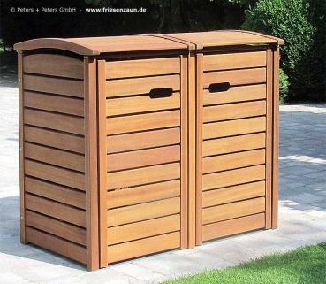 friesenbank shop m lltonnenbox holz natur ge lt f r 2. Black Bedroom Furniture Sets. Home Design Ideas