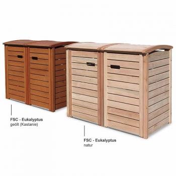 friesenbank shop m lltonnenbox holz natur ge lt f r 2 tonnen 120 240 liter. Black Bedroom Furniture Sets. Home Design Ideas