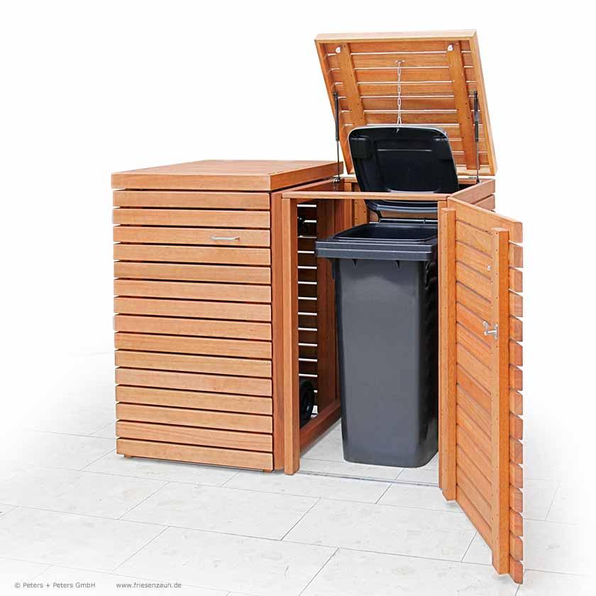 friesenbank shop m lltonnenbox astfreies hartholz ge lt f r 3 tonnen 120 240 liter. Black Bedroom Furniture Sets. Home Design Ideas