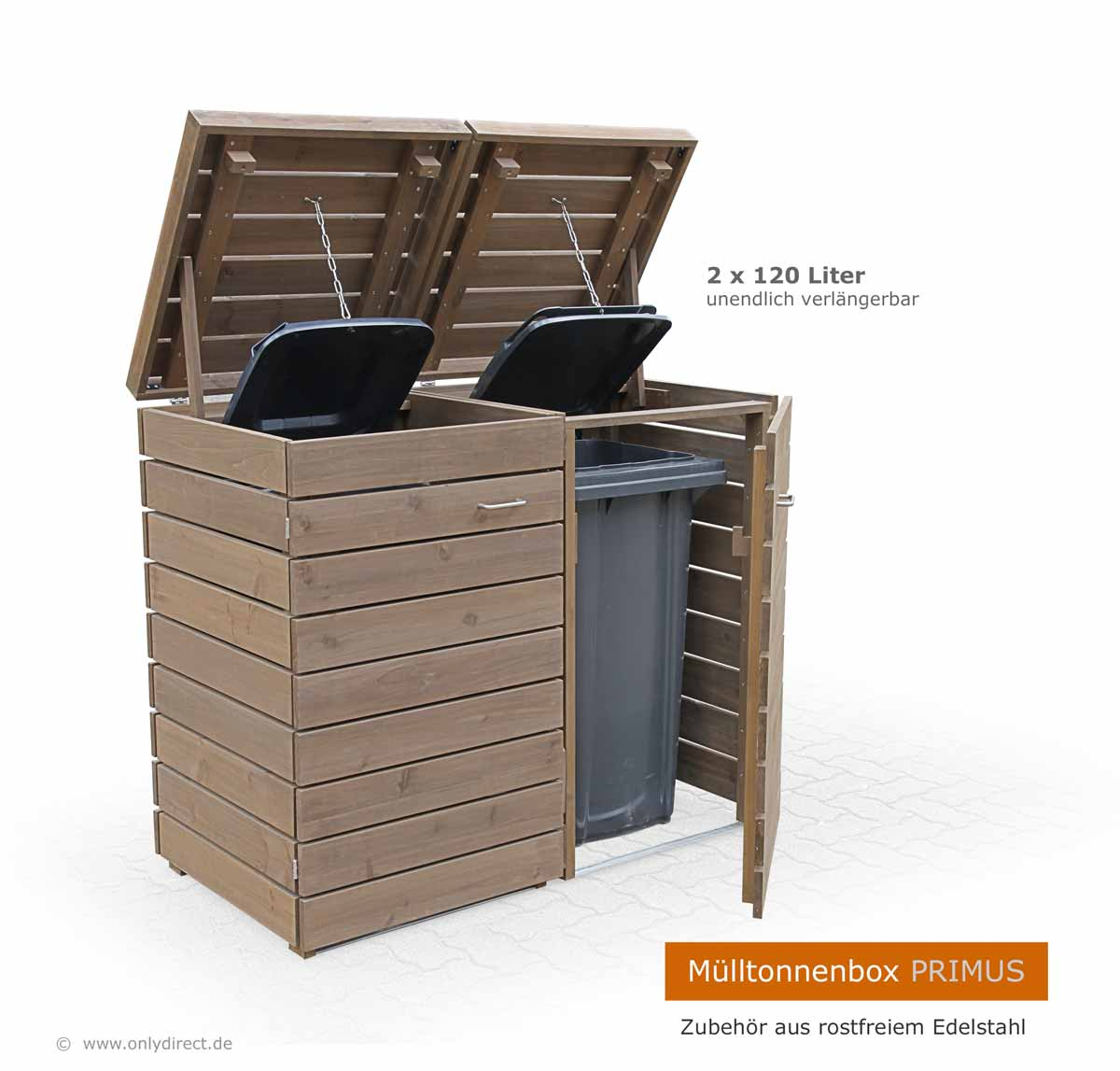 friesenbank shop moderne m lltonnenbox holz fsc zeder f r 2 x 240 liter. Black Bedroom Furniture Sets. Home Design Ideas