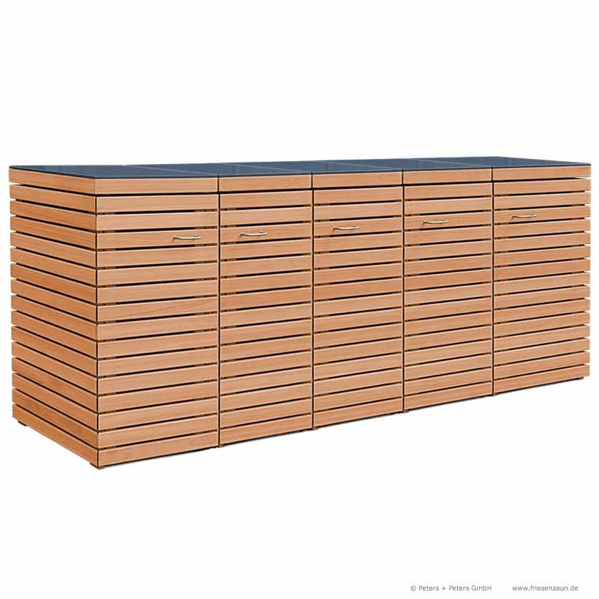 friesenbank shop m lltonnenverkleidung fsc hartholz ge lt f r 4 tonnen 120 liter. Black Bedroom Furniture Sets. Home Design Ideas