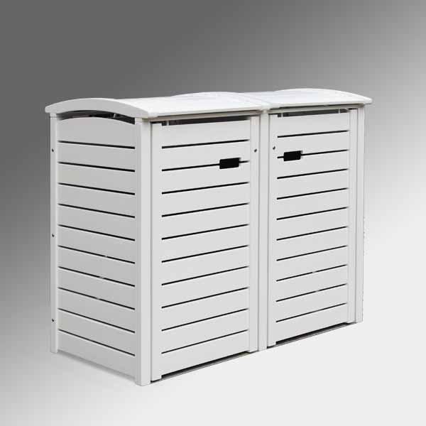 friesenbank shop m lltonnenbox holz wei lackiert f r 2. Black Bedroom Furniture Sets. Home Design Ideas