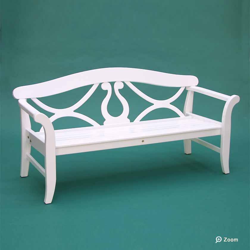 friesenbank shop 3er gartenbank monaco wei gr n ral. Black Bedroom Furniture Sets. Home Design Ideas