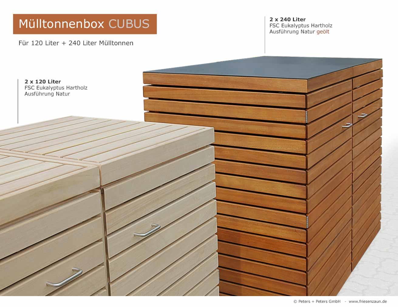 friesenbank shop 4er m lltonnenbox 240 astfreies hartholz ge lt f r 3 tonnen 240 liter. Black Bedroom Furniture Sets. Home Design Ideas