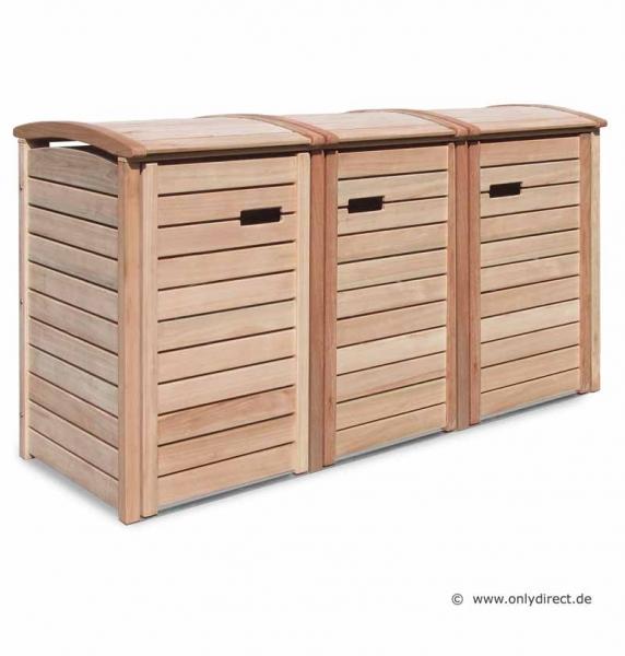 friesenbank shop m lltonnenbox holz natur f r 3 tonnen 120 240 liter. Black Bedroom Furniture Sets. Home Design Ideas