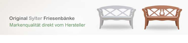 Gartenmobel Polyrattan Roller : FriesenbankShop  Original Sylter Friesenbänke und weiße
