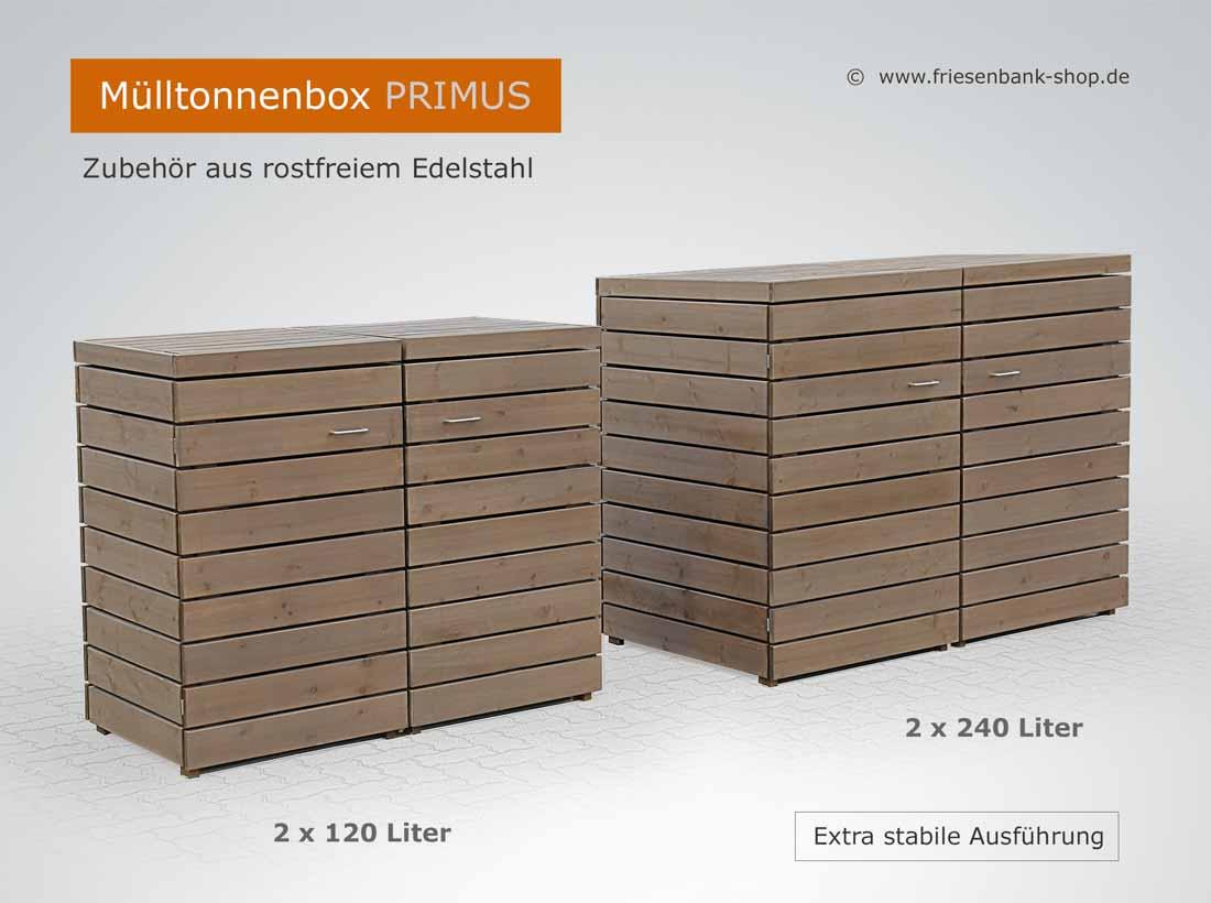 friesenbank-shop - extra stabile mülltonnenbox primus - bis 240