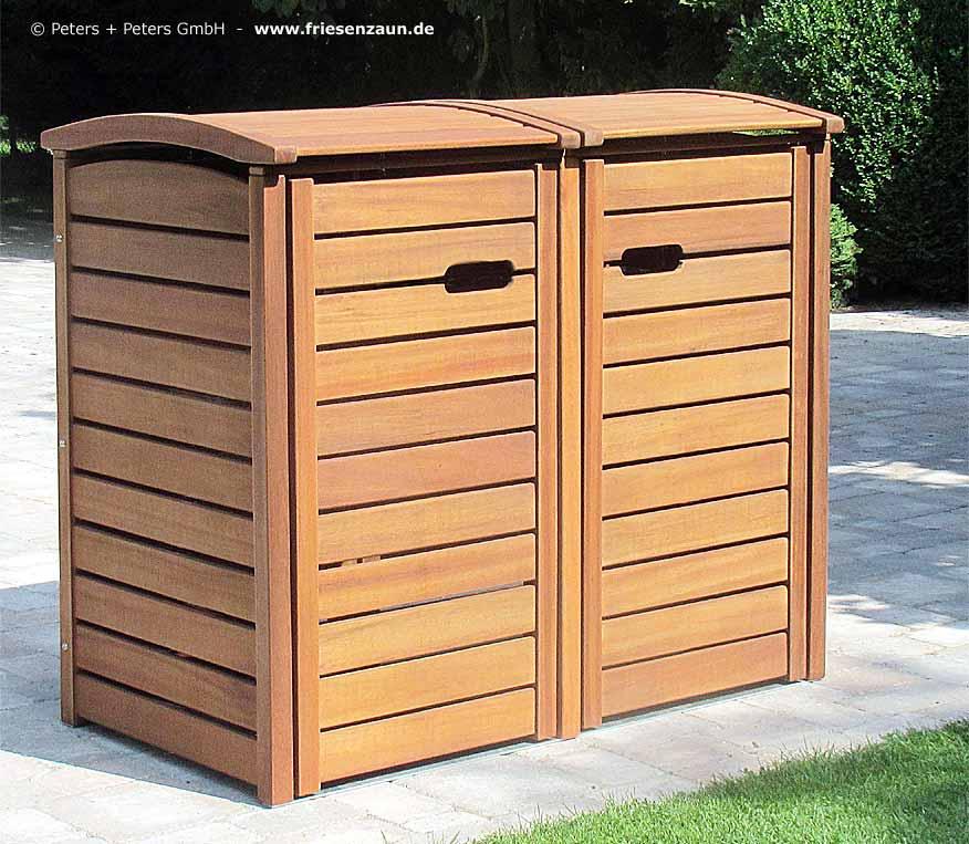 Rückwand Holz für 2er 240l Mülltonnenbox Mülltonnenverkleidung