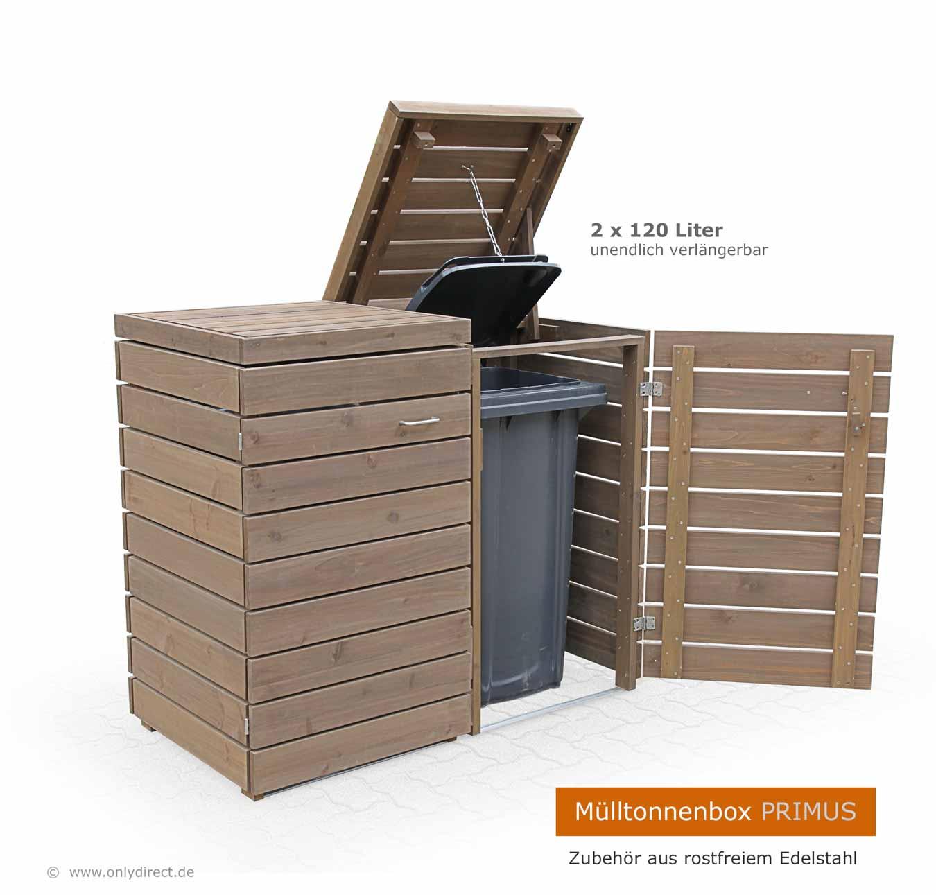 Turbo Friesenbank-Shop - Moderne Mülltonnenbox Holz - FSC Zeder für 3 x JZ72