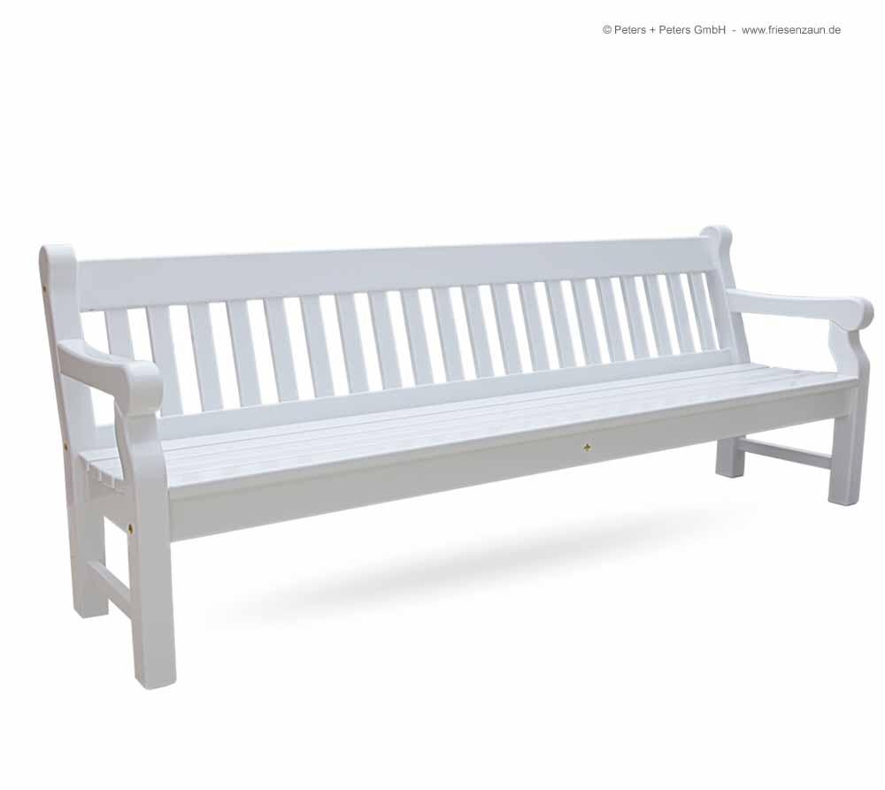 Friesenbank-Shop - 4er Gartenbank Windsor weiß - grün - RAL