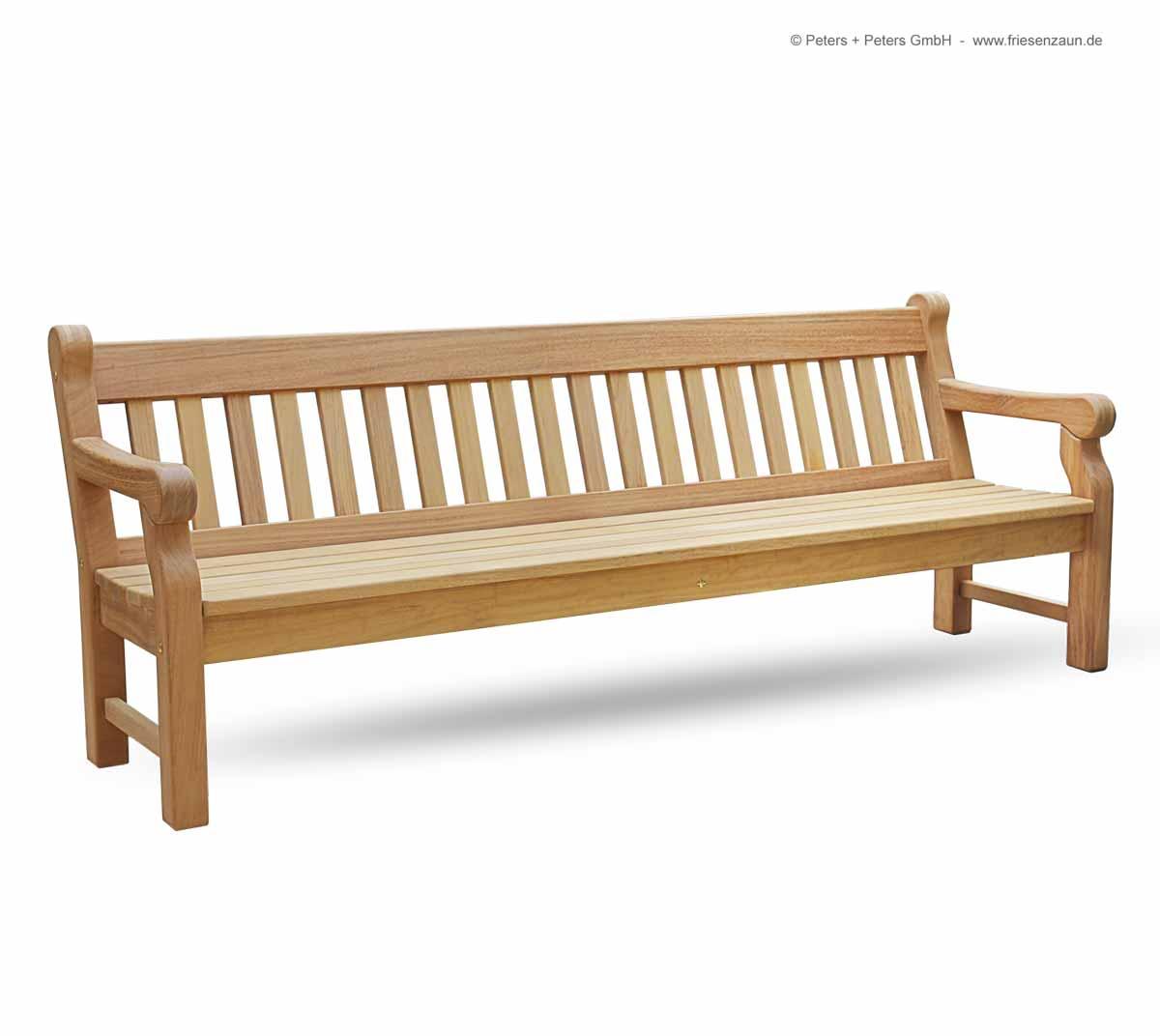 friesenbank shop 4er gartenbank windsor hartholz natur made in germany. Black Bedroom Furniture Sets. Home Design Ideas