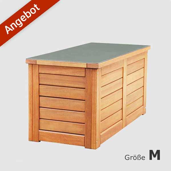Friesenbank Shop Auflagenbox Kissenbox Holz Kissentruhe