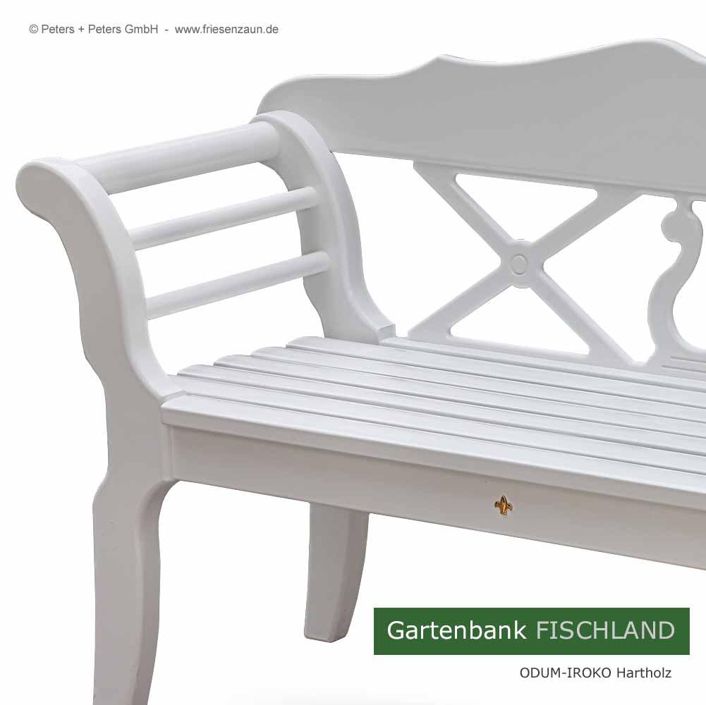 friesenbank shop 2er gartenbank fischland wei gr n ral. Black Bedroom Furniture Sets. Home Design Ideas